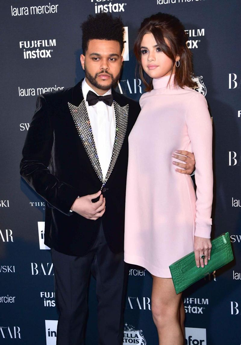 Selena Gomez and The Weeknd (pictured here earlier this year) split after 10 months of dating in October. Source: Getty