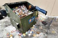 <p>After seeing a posting on Facebook, a woman drove to Arlington, Texas, to collect some of the dumpsters-full of ice cream thrown out at a supermarket on Feb. 17.</p>