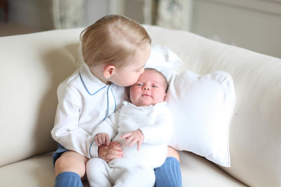 Prince George and Princess Charlotte in 2015 (HRH The Duchess of Cambridge)
