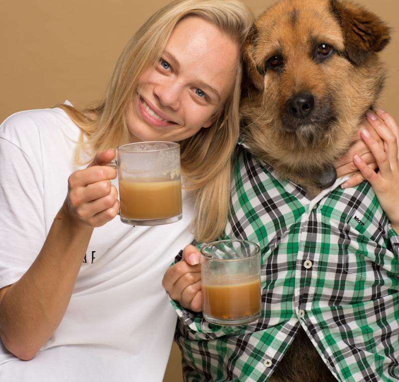 Agota Jakutyte and Crete, the dog who made her realize dogs would love Rooffee. (Rooffee)