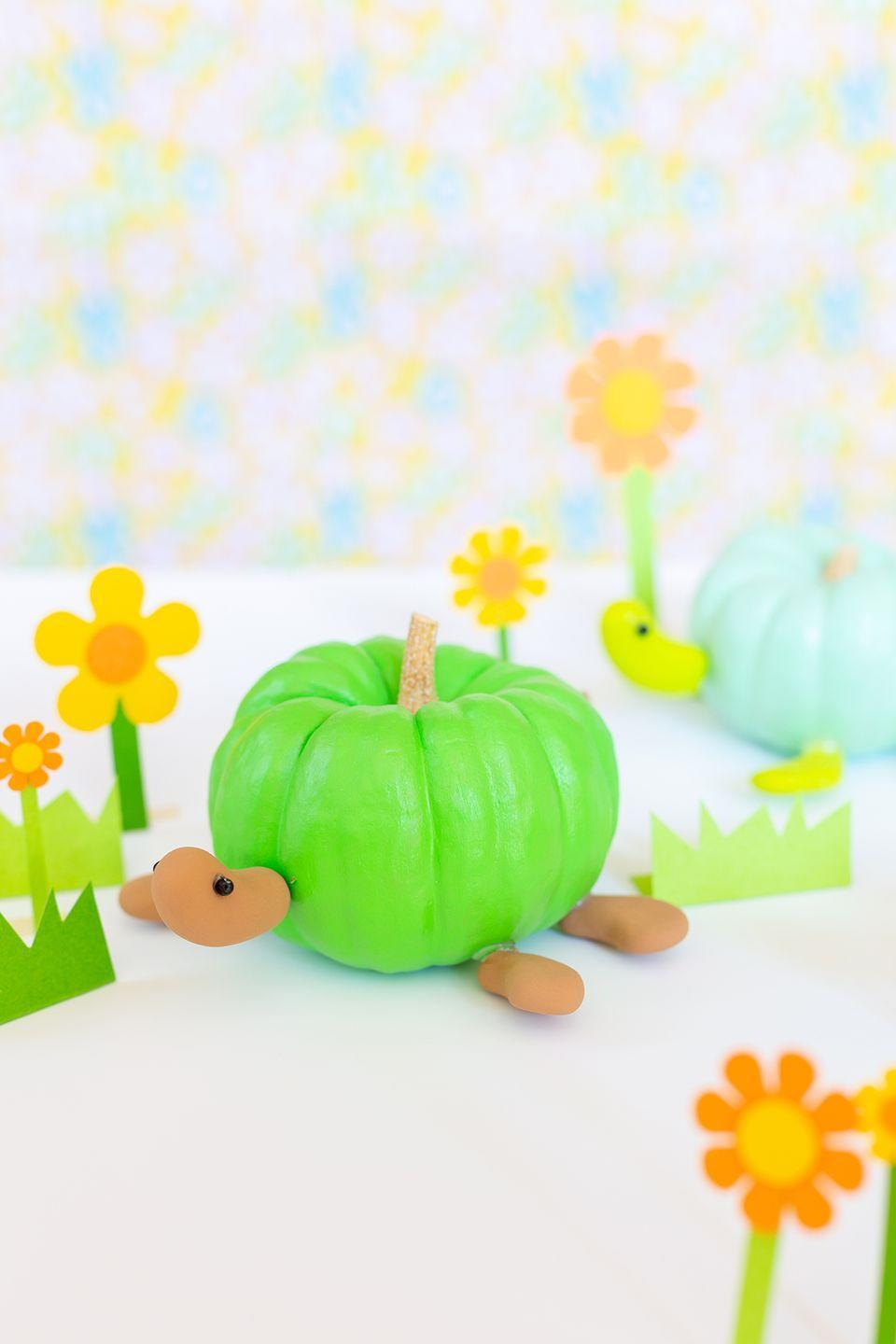 "<p>With moldable clay, paint, and creativity, you can turn mini pumpkins into turtles. Luckily, this pet comes without any added responsibility or cleanup! </p><p><a class=""link rapid-noclick-resp"" href=""https://www.amazon.com/DAS-Hardening-Modeling-Pound-387500/dp/B001GAP4YA/?tag=syn-yahoo-20&ascsubtag=%5Bartid%7C10055.g.22062770%5Bsrc%7Cyahoo-us"" rel=""nofollow noopener"" target=""_blank"" data-ylk=""slk:SHOP MODELING CLAY"">SHOP MODELING CLAY</a></p><p><em><a href=""http://www.awwsam.com/2019/10/diy-turtle-pumpkins.html"" rel=""nofollow noopener"" target=""_blank"" data-ylk=""slk:Get the tutorial at Aww Sam »"" class=""link rapid-noclick-resp"">Get the tutorial at Aww Sam »</a></em></p>"