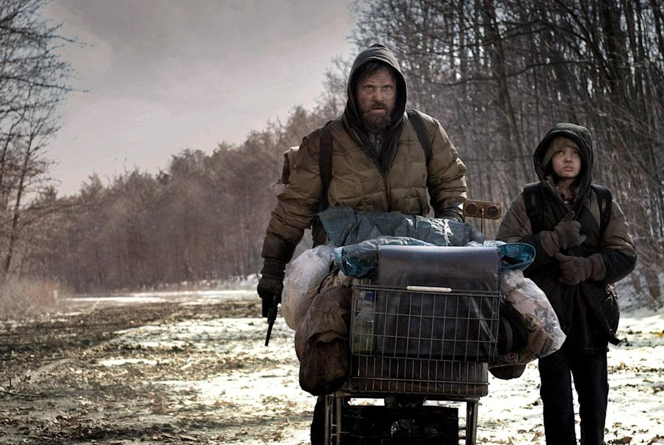 """<p>Based on Cormac McCarthy's bestselling novel, <strong>The Road</strong> follows a father and son as they cross what's left of the country in hopes of finding a safe place to live after an apocalypse has turned the world into a wasteland. Trust us, if you fell hard for Krasinski's Lee, then <a class=""""link rapid-noclick-resp"""" href=""""https://www.popsugar.co.uk/Viggo-Mortensen"""" rel=""""nofollow noopener"""" target=""""_blank"""" data-ylk=""""slk:Viggo Mortensen"""">Viggo Mortensen</a>'s nameless super-dad character will touch your heart, too. </p> <p><a href=""""https://www.amazon.com/gp/video/detail/amzn1.dv.gti.02bc3306-dc59-bd6a-ed41-8cadfad81030"""" class=""""link rapid-noclick-resp"""" rel=""""nofollow noopener"""" target=""""_blank"""" data-ylk=""""slk:Watch The Road on Amazon Video."""">Watch <strong>The Road</strong> on Amazon Video.</a></p>"""