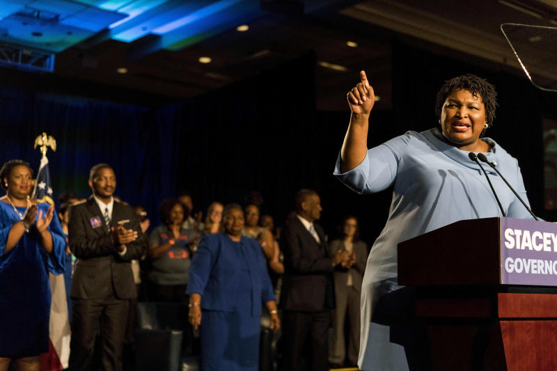 Democratic Georgia gubernatorial candidate Stacey Abrams has refused to concede the election until all the votes are counted. (The Washington Post via Getty Images)