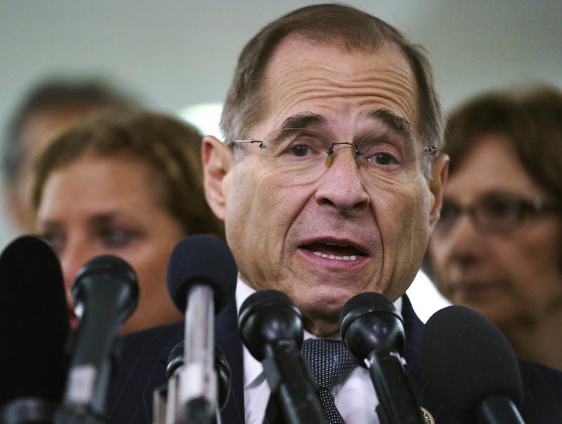 House Judiciary Committee ranking member Jerry Nadler, D-N.Y. (AP Photo/Carolyn Kaster)