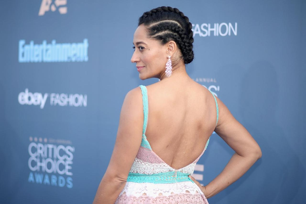 <p>With braids, there's power in your part. Ellis experiments with shape by simply parting her cornrows with smaller and bigger chunks of hair for a three-dimensional finish. </p>