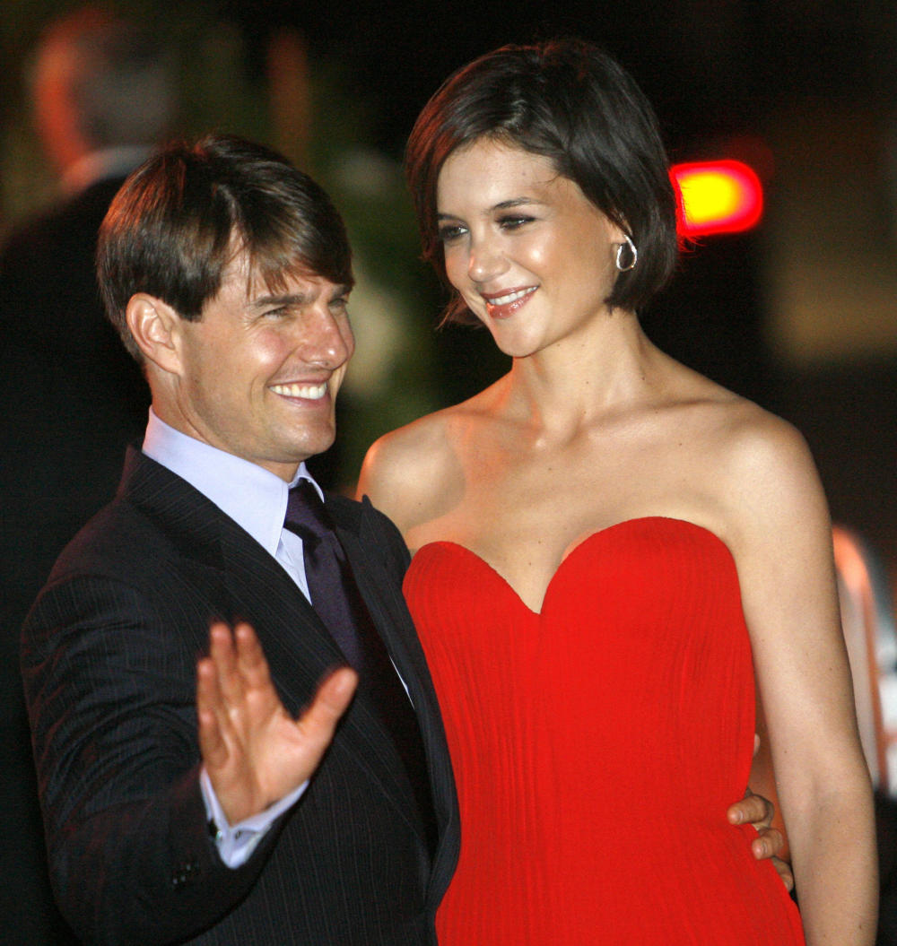 Tom Cruise and Katie Holmes pose at a party at the Museum of Contemporary Art in Los Angeles on July 22, 2007.  (Mario Anzuoni / Reuters)