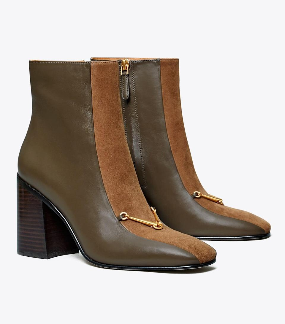 <p>These <span>Tory Burch Equestrian Link Boots</span> ($458) will add polish and a bit of height to your silhouette.</p>
