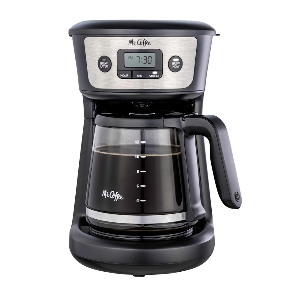 <p>If you love coffee, the <span>Mr. Coffee 12-Cup Programmable Coffeemaker, Strong Brew Selector, Stainless Steel</span> ($20, originally $25) is a must-have for your work from home setup.</p>