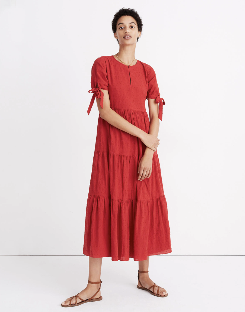 One cheery spring dress can bring a whole lot of happiness. (Photo: Madewell)