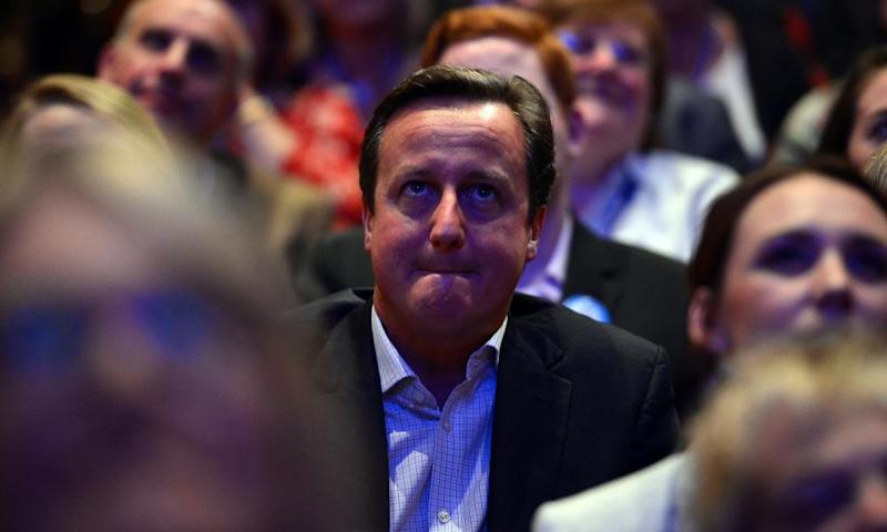 David Cameron fights back the tears listening to William Hague's final speech as an MP in 2014