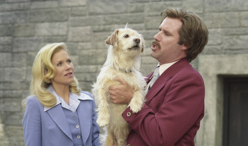 Christina Applegate and Will Ferrell in a still from <i>Anchorman: The Legend of Ron Burgundy</i>. (Paramount)