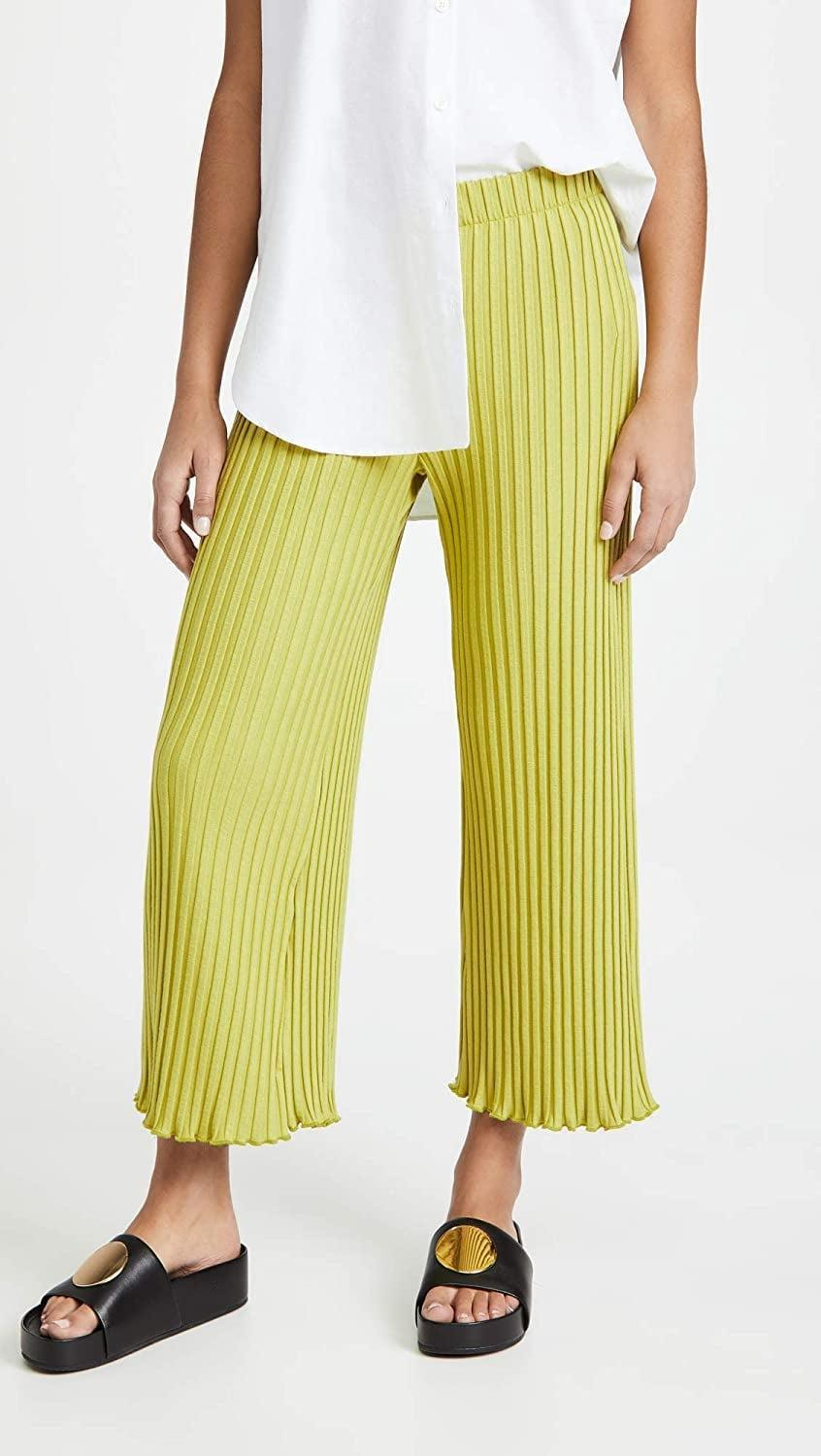<p>Be bold and rock these <span>Simon Miller Alder Wide Crop Pants</span> ($170).</p>