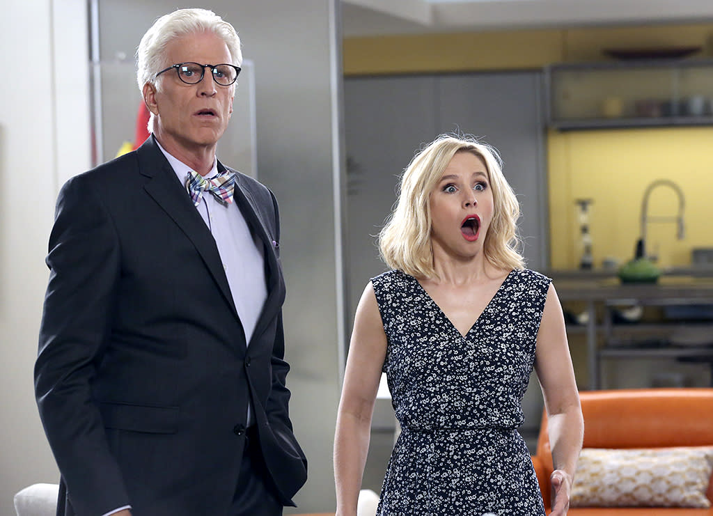 "<p><strong>This Season's Theme:</strong> Seeing ""The Good Place"" through the eyes of afterlife architect Michael (Ted Danson) now that we know it's actually the bad place, where Eleanor (Kristen Bell), Chidi (William Jackson Harper), Jason (Manny Jacinto), and Tahani (Jameela Jamil) are meant to torture one another. ""We thought to ourselves, 'Let's treat him like an indie film director who's trying to make his masterpiece movie with a very limited budget and an unwilling crew,'"" creator Mike Schur says. ""He's scrambling to try to keep his crazy experiment afloat, so you're seeing the chaos that's happening behind the scenes, which is really fun.""<br /><br /><strong>Where We Left Off: </strong>Eleanor received the note (""Find Chidi"") she wrote to herself before Michael wiped everyone's memories and rebooted the neighborhood. <br /><br /><strong>Coming Up:</strong> Like Eleanor, who met her version 2.0 soulmate (a hot mailman from New Jersey) in the Season 1 finale, the others have new companions as well. Plus, familiar faces return. ""Since we're in Michael's point of view, we get to know some of the local resident demons a little better,"" Schur says. ""So the people who you saw on the fringes last year — you get to see more of them this year.""<br /><br /><strong>A New Obsession:</strong> All the frozen yogurt shops in the neighborhood have been replaced by pizza places. ""I continue to grind my personal ax about Hawaiian pizza, because all of the pizza places serve almost exclusively Hawaiian pizza, which to me is not only the worst pizza,"" Schur says, ""but I think the worst food that's ever been invented."" — <em>Mandi Bierly</em><br /><br />(Photo by: Vivian Zink/NBC) </p>"