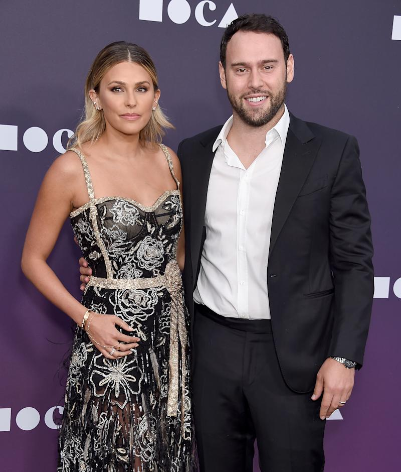 LOS ANGELES, CA - MAY 18: Scooter Braun and Yael Cohen Braun attend the MOCA Benefit 2019 at The Geffen Contemporary at MOCA on May 18, 2019 in Los Angeles, California. (Photo by Gregg DeGuire/FilmMagic)