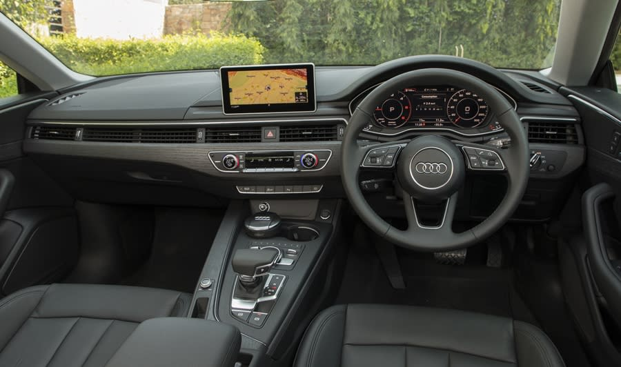 The interior is all clinical Audi. It is less extroverted than the exterior, but details such as running air vents look cool. There is ample space for Ajay if he chooses to be chauffeured around too...