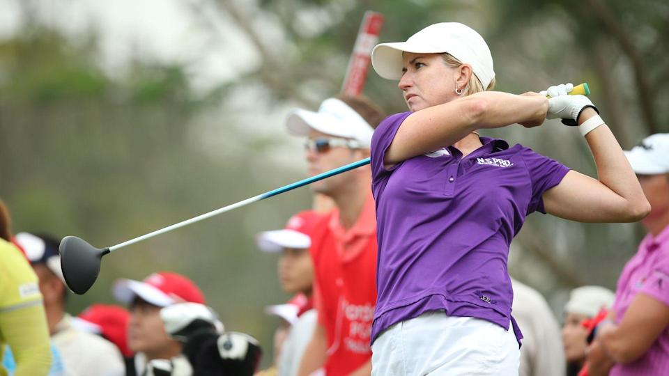 Karrie Webb of Australia participate in a Honda LPGA Thailand 2014 at Siam Country Club Pattaya Old Course on February 21, 2014 in Chonburi, Thailand.