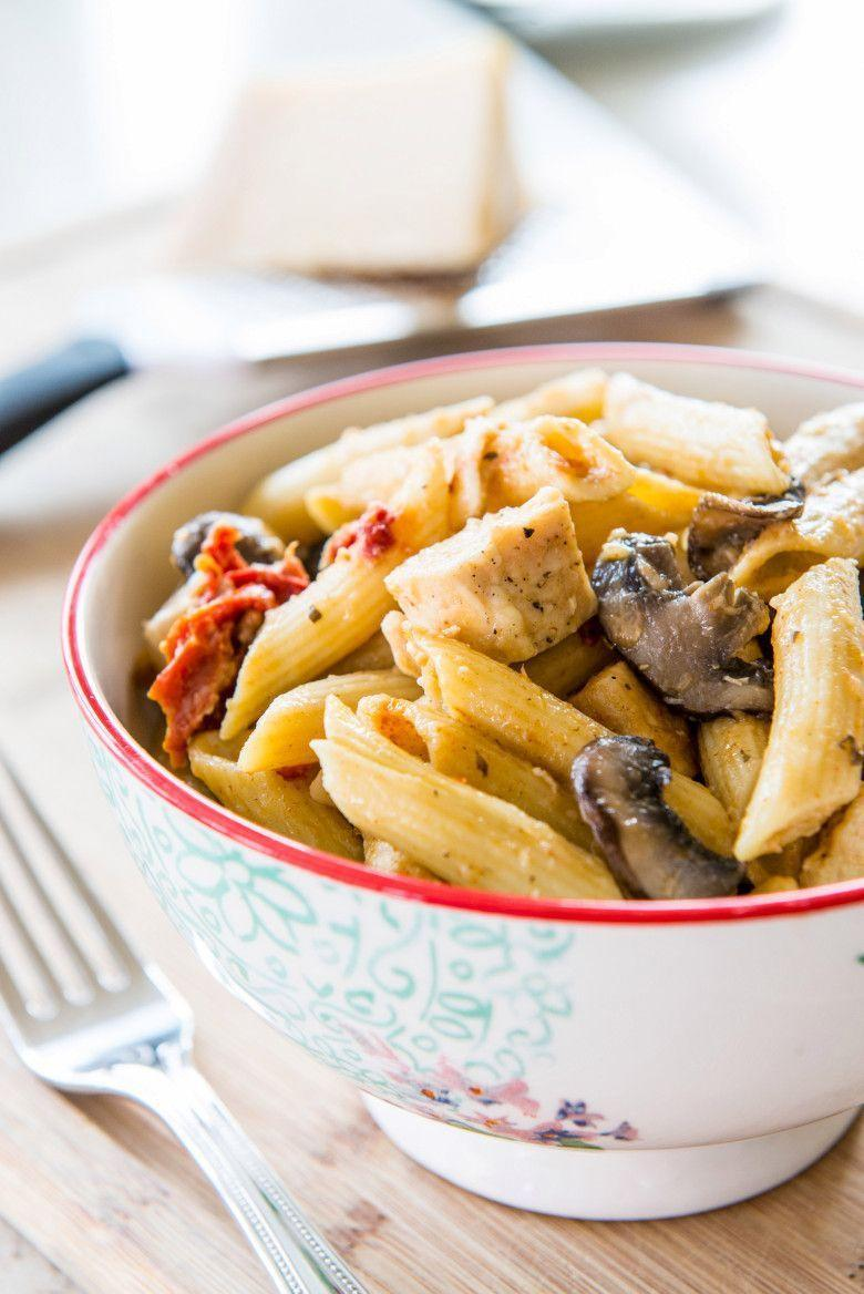 """<p>It's simple, flavorful, and ready in 30 minutes. What more could you ask for?</p><p><strong><a href=""""https://thepioneerwoman.com/food-and-friends/pasta-with-mushrooms-chicken-and-sun-dried-tomatoes/"""" rel=""""nofollow noopener"""" target=""""_blank"""" data-ylk=""""slk:Get the recipe"""" class=""""link rapid-noclick-resp"""">Get the recipe</a>.</strong></p>"""