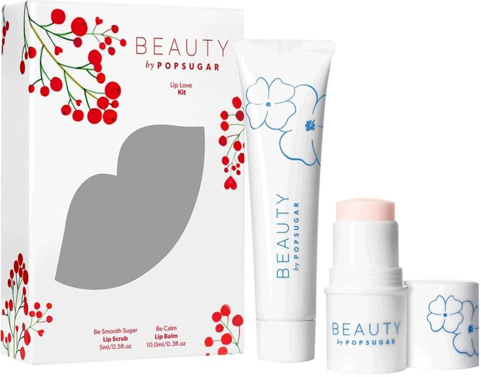 <p>They can keep their lips silky smooth and hydrated this Winter thanks to the <span>Beauty by POPSUGAR Lip Love Kit</span> ($27).</p>
