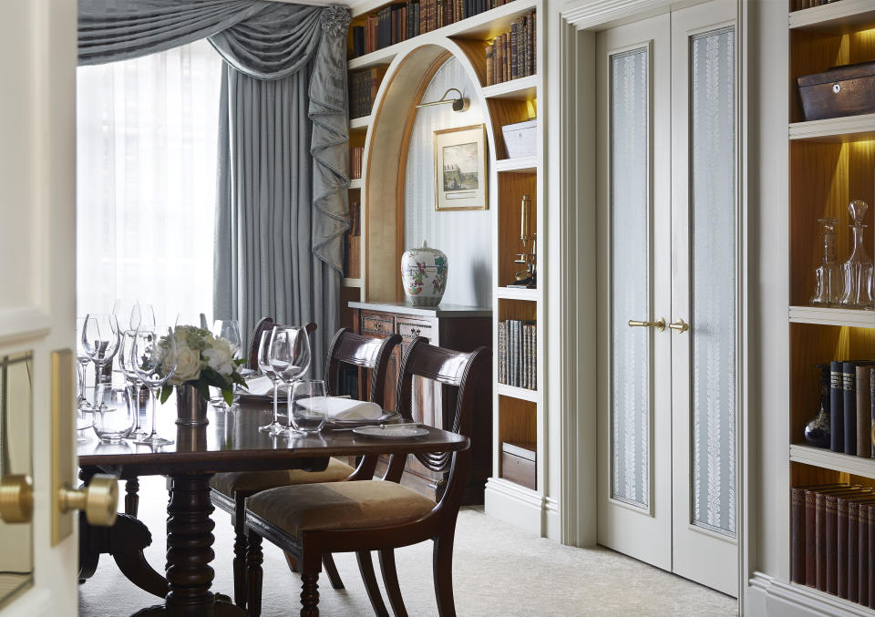 The suite has its own dining room. (Goring Hotel)
