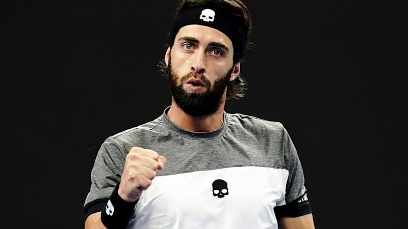 Nikoloz Basilashvili, pictured here in action at the 2018 China Open.