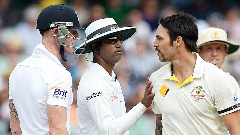 Ben Stokes and Mitchell Johnson, pictured during the 2013-14 Ashes series, have never seen eye to eye.