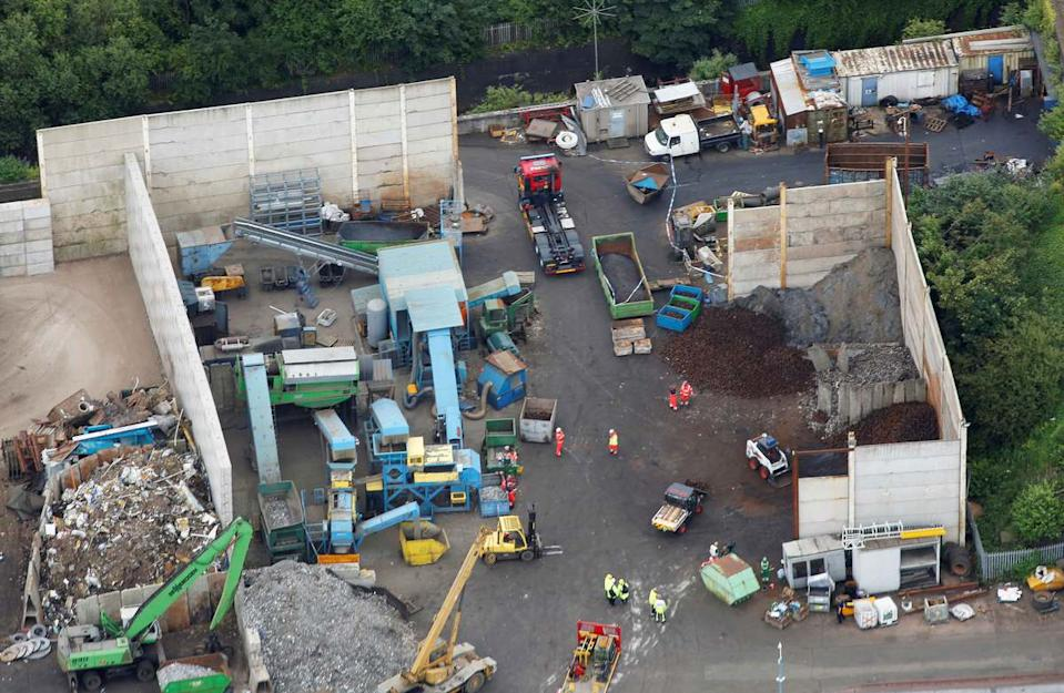 Five workers were fatally injured and another seriously injured at a site in Birmingham.