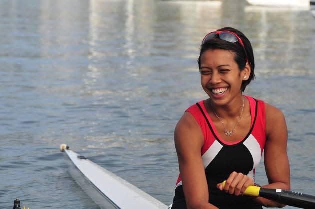 Singapore's fighting female rower Saiyidah Aisyah. (Photo: Nick Garratt)