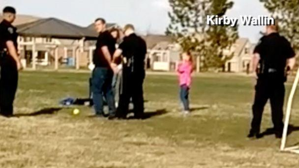 PHOTO: Matt Mooney, 33, says he was handcuffed in front of his 6-year-old daughter for allegedly not respecting social distancing rules at a Brighton, Colo., park. Police later apologized for the incident.  (Courtesy Kirby Wallin)