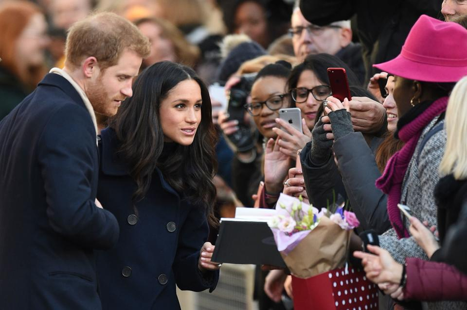 The pair were showered with cards and bouquets [Photo: Getty]