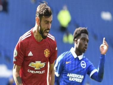 Premier League: Bruno Fernandes converts late penalty to help Manchester United beat Brighton