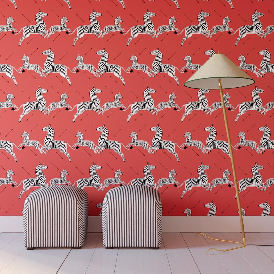 "<p>Great news, Wes Anderson fans: luxury textile company Scalamandré has teamed up with The Inside to produce a line of removable wallpaper that looks identical to the iconic zebra pattern featured in <em>The Royal Tenenbaums</em> (hint: remember Gwyneth Paltrow's bedroom and powder room?). The limited edition wallpaper is peel-and-stick, so you can easily add the daring pattern to any wall in your home, and just as easily take it off. </p> <p><strong>To buy: </strong>$69, <a href=""https://www.pntrac.com/t/8-11942-131940-171480?sid=RS%2CTheseRemovableWallpapersAretheBestNo-Risk%252CHigh-RewardDesignMove%2Ckholdefehr1271%2CDEC%2CIMA%2C677693%2C201909%2CI&url=https%3A%2F%2Fwww.theinside.com%2Fproducts%2Fpeel-and-stick-wallpaper-roll-coral-zebra-by-scalamandre%2FYRK_1000_CoralZebraByScalamandre%3F"" target=""_blank"">theinside.com</a>. </p>"
