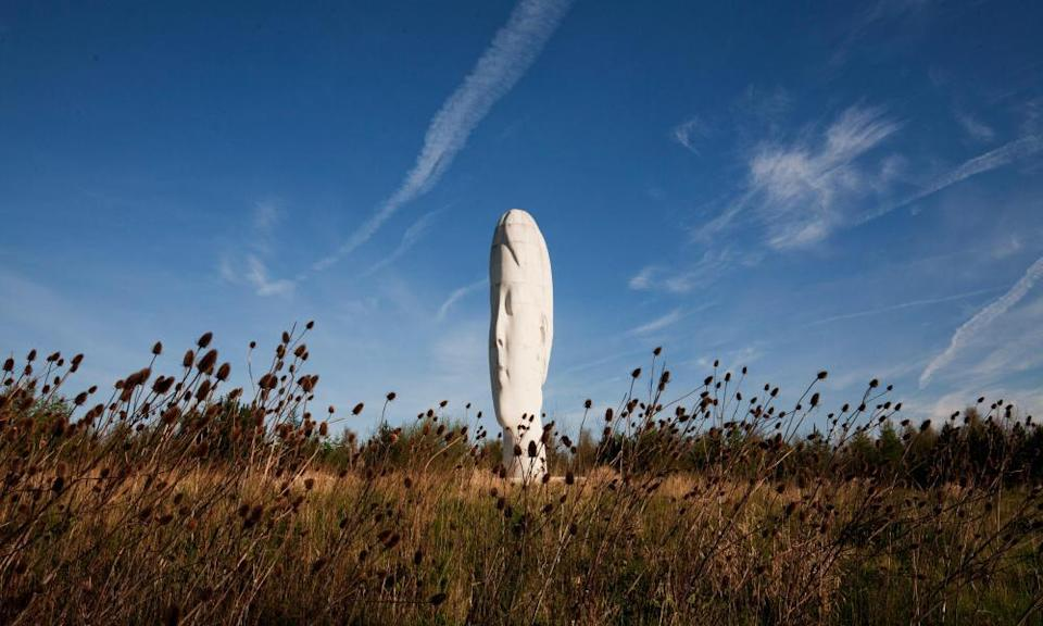 Jaume Plensa's Dream stands near the former site of Sutton Manor Colliery.