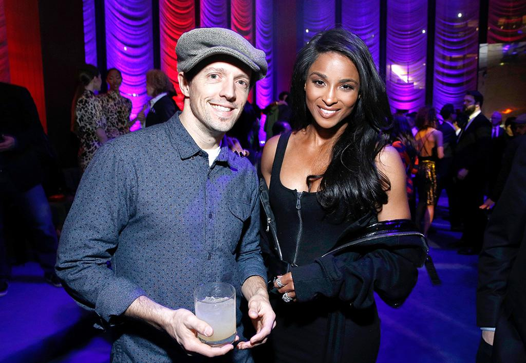 <p>The <em>Waitress</em> star chatted up Russell Wilson's lady love at the Warner Music Group Pre-Grammys bash in NYC. (Photo: Brian Ach/Getty Images for Warner Music Group) </p>