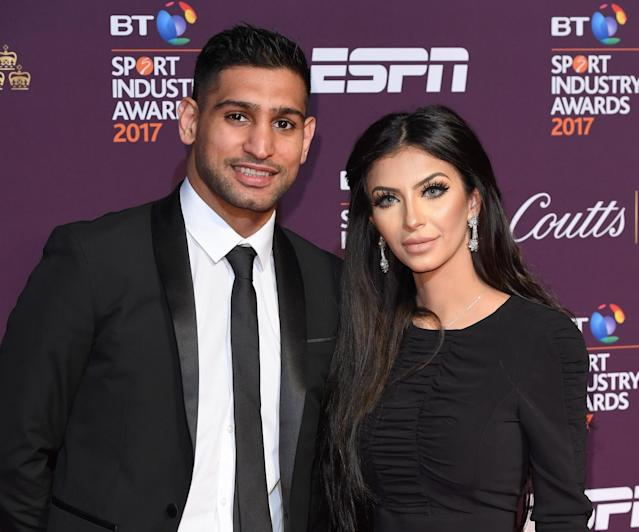 Amir Khan and his wife of four years, Faryal Makhdoom, have split up. (Getty Images)