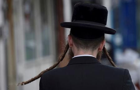 FILE PHOTO: An orthodox Jewish man in Stamford Hill, north London