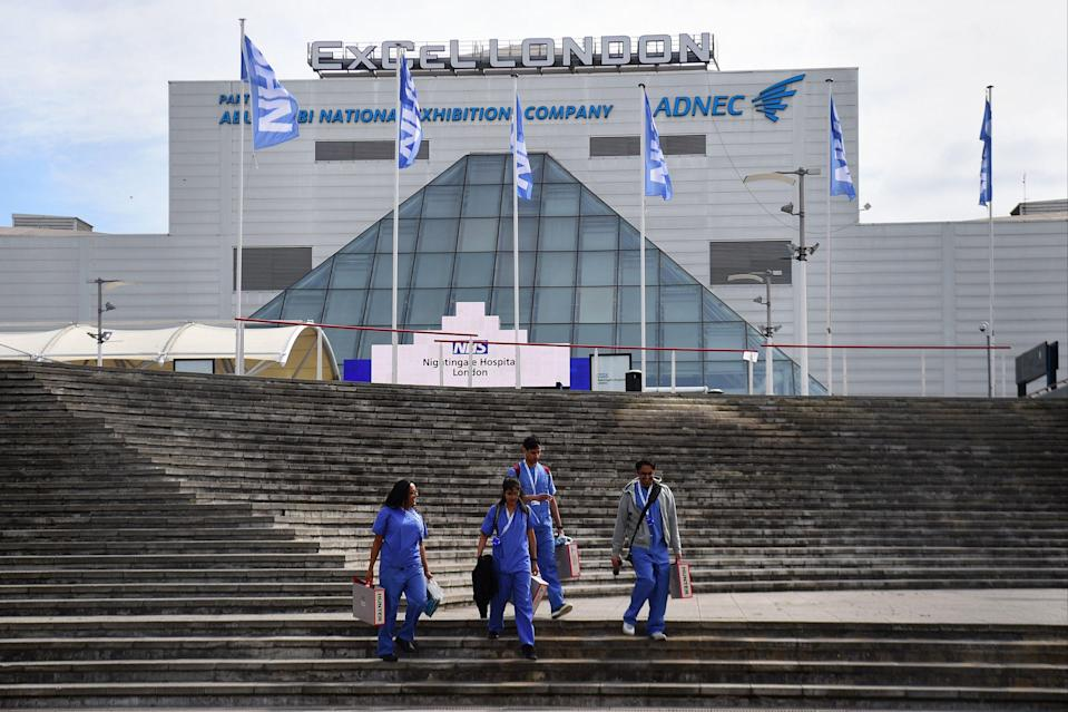 <p>Newham is home to the ExCel Centre — one of seven English vaccination 'superhubs'</p> (PA)