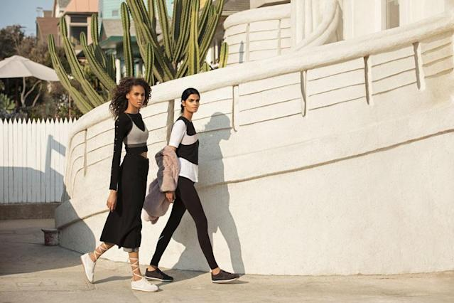 Models Cindy Bruna and Bhumika Arora in the new Cortez by A.L.C. collection (Photo: Courtesy of Danielle Levitt/A.L.C.)