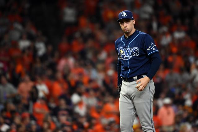 "Rays ace Blake Snell already has a Cy Young Award in his trophy case. Will he add an ""MLB The Show"" Players League championship? (Photo by Cooper Neill/MLB Photos via Getty Images)"