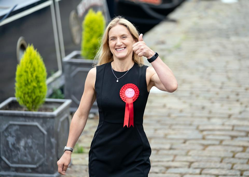 Kim Leadbeater walks along the canal path in Huddersfield after winning the Batley and Spen by-election and now representing the seat previously held by her sister Jo Cox, who was murdered in the constituency in 2016. Picture date: Friday July 2, 2021.