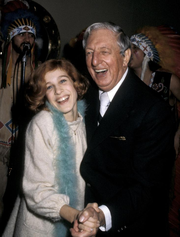 "<p>Sarah Jessica Parker with a short bob in 1979 at Bill Bogg's Thanksgiving Party at the New York Hilton hotel. She played ""Annie"" at the age of 14.</p>"