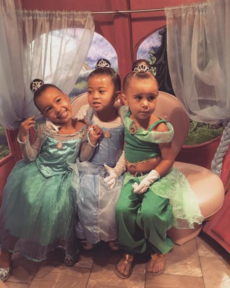 """<p>They're the three best friends (read: princesses) that anyone could have! North West, Ryan Romulus, and Penelope Disick had a ball on Thursday. """"The girls got princess make overs at the Bibbity Bobbity Botique! I've never seen anything sweeter! Thank you<a href=""""https://www.instagram.com/Disneyland/"""">@Disneyland</a> for the magical memories!"""" Kim Kardashian-West posted on <a href=""""https://www.instagram.com/p/BFnbP9wuS3W/?taken-by=kimkardashian"""">Instagram</a>.<br /></p>"""
