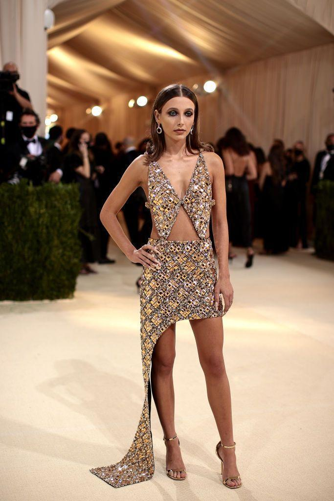 <p>The YouTube star wore a sequin cut-out Louis Vuitton mini dress.</p>