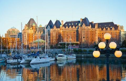 Empress Hotel seen from Victoria Inner Harbour - Credit: Getty