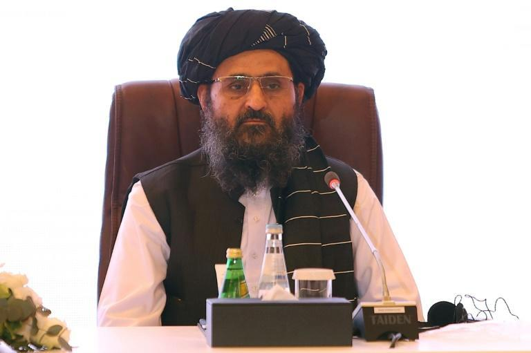 Taliban co-founder Abdul Ghani Baradar (pictured in Doha in July 2021) released an audio statement to squash rumours that he had been killed in a shootout between rival factions in Kabul (AFP/KARIM JAAFAR)