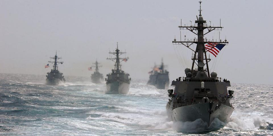 US Navy guided-missile destroyers and guided-missile cruisers