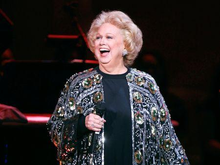"""FILE PHOTO: Singer Barbara Cook performs during the """"James Taylor at Carnegie Hall"""" gala which celebrates 120 years of music, at Carnegie Hall in New York"""