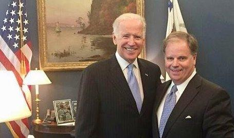 Former Vice President Joe Biden will campaign for Doug Jones next month