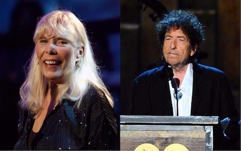 Joni Mitchell and Bob Dylan