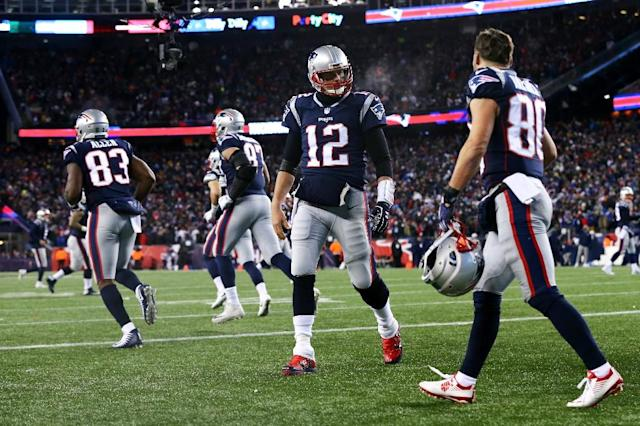 The Patriots will bid for their eighth trip to the Super Bowl championship spectacle in 17 seasons at home against the Jaguars (AFP Photo/Maddie Meyer)