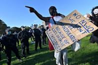 Protesters in Sydney carried signs and banners bearing anti-lockdown messages